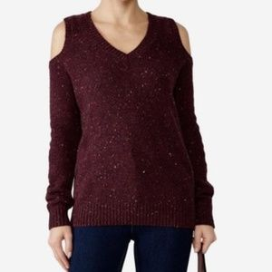 Rebecca Minkoff Page Cold-Shoulder Red Sweater XS
